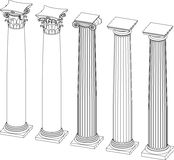 Architectural columns with capitals Royalty Free Stock Photos