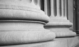 Architectural Columns in a Classic Federal Buuilding Royalty Free Stock Photo