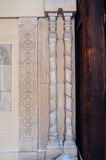 Architectural columns, element of the old church royalty free stock photos