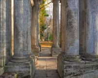 Architectural columns. Old columns is ancient style. Royalty Free Stock Photos