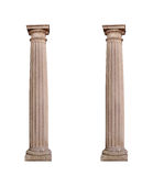 Architectural columns on a white background Royalty Free Stock Image