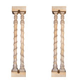 Architectural columns on a white background Royalty Free Stock Photography