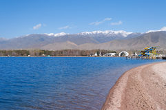 Architectural complex on bank of Issyk-Kul Lake Stock Photos