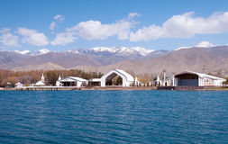 Architectural complex on bank of Issyk-Kul Lake Stock Images