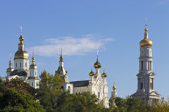 Architectural complex of the Orthodox monastery in the historic Stock Photos