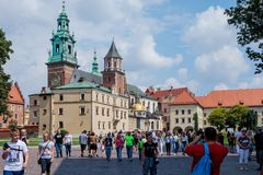 Architectural complex of Wawel in Krakow Stock Photos