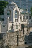 Architectural composition on the bank of the river Wien in Stadtpark, Vienna, Austria Stock Photos
