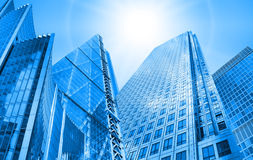 Architectural composition made of corporative buildings. Royalty Free Stock Image