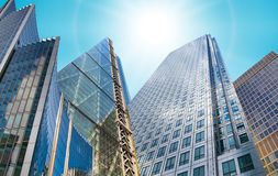 Architectural composition made of modern buildings. Stock Image