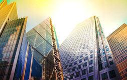 Architectural composition made of modern buildings. Royalty Free Stock Photos