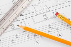 Architectural concept drawing Royalty Free Stock Image