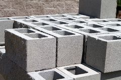 Architectural Concrete Blocks Stock Photo