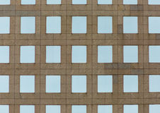Architectural of a concrete building, symmetrical windows Stock Image