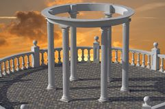 Architectural construction with columns. The beautiful Architectural construction with columns royalty free illustration