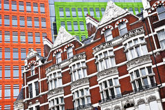 Architectural contrasts in London, England Royalty Free Stock Image