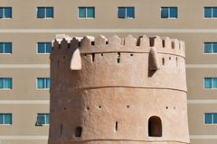 Architectural contrasts in Sharjah, UAE Royalty Free Stock Images