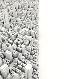 Architectural 3D model illustration of a large city. On a white background with room for text or copy space Stock Photos