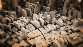Architectural 3D model illustration of a large city on a whiteba. Ckground Royalty Free Stock Photography