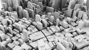 Architectural 3D model illustration of a large city on a whiteba. Ckground Stock Images