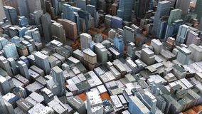 Architectural 3D model illustration of a large city on a whiteba. Ckground vector illustration