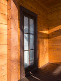 Architectural data of a winter wooden house Royalty Free Stock Image