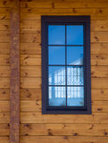 Architectural data of a winter wooden house Stock Image