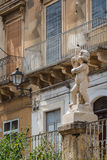 Architectural decoration in the historic centre of Paterno Royalty Free Stock Photography