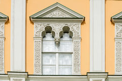 The architectural decoration of the Windows. Of the faceted chamber in the Moscow Kremlin Royalty Free Stock Photo