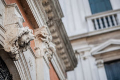 Architectural decorative element - head of angel Royalty Free Stock Photo