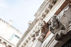 Architectural decorative element - head of angel Royalty Free Stock Photography