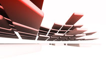 Architectural design. 3d picture of an abstract architectural design Stock Photos