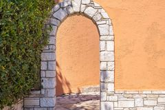Architectural design of an arch Royalty Free Stock Image