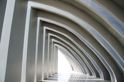 Architectural design of empty corridor. Royalty Free Stock Images