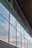 Architectural Design. Glass Wall on a Building Royalty Free Stock Photo