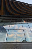 Architectural Design. Glass Wall on a Building Stock Photos