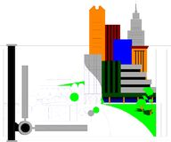 Architectural design graphic Royalty Free Stock Images
