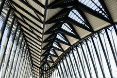 Architectural detail. Metal modern architecture in lyon airport Stock Image