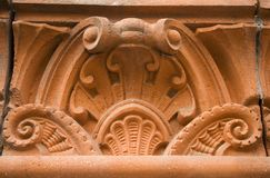 Architectural Detail. Part of a frieze on the exterior of a building Stock Photo