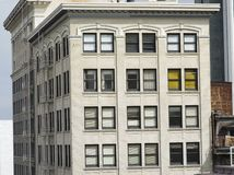 Architectural Detail. S of office and downtown buildings in Portland, OR Royalty Free Stock Photo