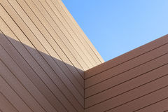 Architectural Detail. Abstraction of a wooden construction detail Royalty Free Stock Photo