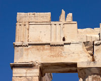 Architectural detail, Acropolis of Athens Royalty Free Stock Images