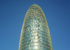 Architectural detail of the Agbar Tower Barcelona Royalty Free Stock Images