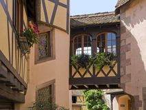 Architectural detail in Alsace Stock Images