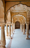 Architectural detail of Amber Fort in Jaipur, Rajasthan, India.  Stock Images