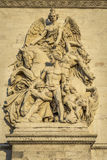 Architectural Detail of Arc de Triomphe Stock Photos