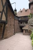 Courtyard at Haut-Koenigsbourg Castle Royalty Free Stock Images