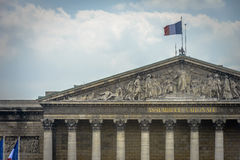 Architectural Detail of Assemblee Nationale, Paris stock photo