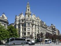 Architectural Detail of Banco Espirito Santo in Porto, Portugal Royalty Free Stock Photography