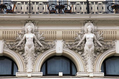 Architectural Detail at baroque style facade of building Stock Photography