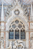 Architectural detail of Basilica of Saint Mark Venice Stock Image